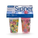 THE FIRST YEARS Smart Sipper Insulated Cups Girls - Gelas Bayi 2Pcs [Y4877] - Pink White - Perlengkapan Makan dan Minum Bayi