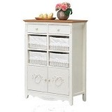 THE OLIVE HOUSE Lemari Rosemary 8 Susun - Top Oak (Merchant) - Drawer
