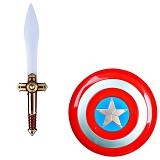 THE TOY SHOP Capt America Sword And Shield [TEN-0117] - Mainan Kostum dan Aksesoris