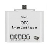 THREE HORSES OTG Type C 5 in 1 Micro USB Card Reader for Android Smartphone & Tablet (Merchant) - Cable / Connector Usb