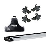 THULE Roof Rack Set 1 for Daihatsu Sirion Hatchback 2006-Now (Merchant) - Bagasi Mobil