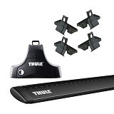 THULE Roof Rack Set 2 for Daihatsu Sirion Hatchback 2006-Now (Merchant) - Bagasi Mobil