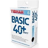 TIBHAR Basic Ball SynTT 40+ (6-Pack) - White - Bola Pingpong