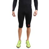 TIENTO Baselayer Manset Rash Guard Compression Half Pants Size M - Black Red - Celana Olahraga Pria