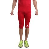 TIENTO Baselayer Manset Rash Guard Compression Half Pants Size XXL - Red White - Celana Olahraga Pria