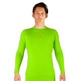 TIENTO Baselayer Manset Rash Guard Compression Long Size S - Green Stabilo - Kaos Pria