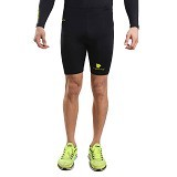 TIENTO Baselayer Manset Rash Guard Compression Short Pants Size XL - Black Gold - Celana Olahraga Pria