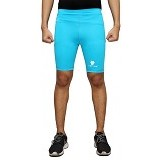 TIENTO Baselayer Manset Rash Guard Compression Short Pants Size XXL - Turkis White - Celana Olahraga Pria
