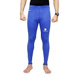 TIENTO Baselayer Manset Rashguard Compression Long Pants Size S - Blue White (Merchant) - Celana Olahraga Pria