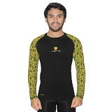TIENTO Baselayer Manset Rashguard Compression Long Sleeve Size M - Black Army Green (Merchant) - Kaos Pria