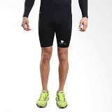 TIENTO Baselayer Manset Rashguard Compression Short Pants Size L - Black White (Merchant) - Celana Olahraga Pria