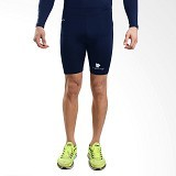 TIENTO Baselayer Manset Rashguard Compression Short Pants Size M - Navy White (Merchant) - Celana Olahraga Pria