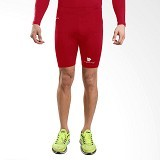 TIENTO Baselayer Manset Rashguard Compression Short Pants Size S - Red White (Merchant) - Celana Olahraga Pria