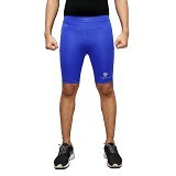 TIENTO Baselayer Manset Rashguard Compression Short Pants Size XL - Blue Silver (Merchant) - Celana Olahraga Pria