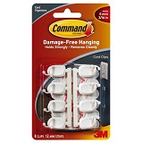 3M Command Small Cord Clips - Cable Holder / Cable Tie