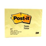 3M Post-it 657 - Canary Yellow - Sticky Note