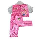 TIGER HEAD Jas Hujan Olympic Remaja Size 7 - Pink - Jas Hujan