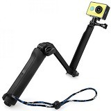 TMC 3 Way Foldable Extension Tripod for Action Camera [HR289] - Black (Merchant) - Monopod and Unipod