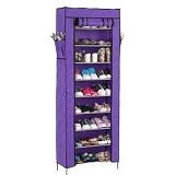 TOKO BAGUS INDO Multifunction Rack With Cover 10 Grid - Purple