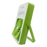 TOKO KADO UNIK Dora Rechargeable Mini USB Fan Rotation - Green (Merchant) - Kipas Angin Meja
