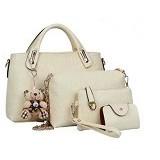 TOKO WANITA Tas Fashion Wanita 4 in 1 - White (Merchant)