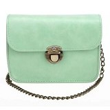 TOKO WANITA Tas Fashion Women Sweet Cross Body Evening Bags With Solid Chain - Green (Merchant) - Cross-Body Bag Wanita