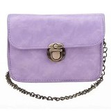 TOKO WANITA Tas Fashion Women Sweet Cross Body Evening Bags With Solid Chain - Purple (Merchant) - Cross-Body Bag Wanita