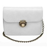 TOKO WANITA Tas Fashion Women Sweet Cross Body Evening Bags With Solid Chain - White (Merchant) - Cross-Body Bag Wanita