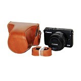 TOKOCAMZONE Leather Case for Canon EOS M10 - Brown (Merchant) - Camera Compact Pouch