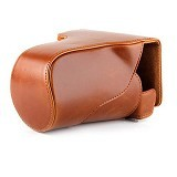 TOKOCAMZONE Leather Case for Canon EOS M3 - Brown - Camera Compact Pouch