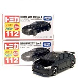 TAKARA TOMY Tomica Reguler 112 Subaru WRX STI Type S - Black (Merchant) - Die Cast