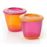 TOMMEE TIPPEE 2 Pack Pop Up Weaning Pot [TT/06/014-orange] - Orange - Media Penyimpanan Susu dan Makanan Bayi