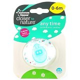 TOMMEE TIPPEE Closer To Nature Anytime Soother [TT/09/021-433354C] - Blue - Dot Bayi / Pacifier & Teethers
