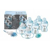 TOMMEE TIPPEE Closer To Nature Decorated Bottle Starter Set [TT/01/036-423741] - Blue - Botol Susu
