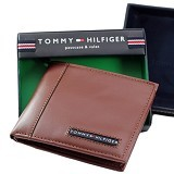 TOMMY HILFIGER Mens Cambridge Passcase Wallet - Tan - Dompet Pria