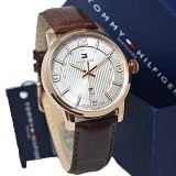 TOMMY HILFIGER Watch [1710346] - Coklat/Rosegold - Jam Tangan Pria Casual