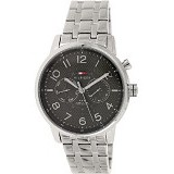 TOMMY HILFIGER Watch [1791086] - Silver Hitam - Jam Tangan Pria Casual