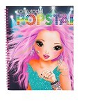 TOP MODEL POPSTAR Colouring Book Without Sound [TM 7966] - Buku Seni Gambar