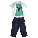 TORIO Stars & Stripes Stylish Denim Set Size 3-6M - Setelan / Set Bepergian/Pesta Bayi dan Anak