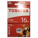 TOSHIBA MicroSD SDHC Exceria 16GB R48 [THN-M301B0160C4] - Class 10