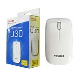 TOSHIBA Mouse with Blue LED Technology [U30] - White (Merchant) - Mouse Basic