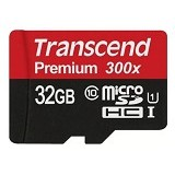 TRANSCEND Micro SDHC 32GB Premium 300X - Micro Secure Digital / Micro SD Card