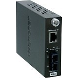 TRENDNET 10/100Base-TX to 100Base-FX Single Mode Fiber Converter (60KM) [TFC-110S60] - Network Converter