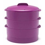 TUPPERWARE 3Pcs Steam It - Purple - Steamer