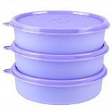 TUPPERWARE Large Handy Bowl 3pcs - Ungu - Wadah Makanan