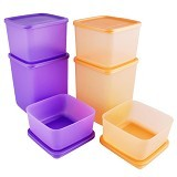 TUPPERWARE Summer Fun Tupperware - Orange Ungu - Wadah Makanan
