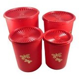 TUPPERWARE Butterfly Canister Set 4pcs - Toples