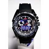 TVG Ventura Double Time Rubber - Black - Jam Tangan Pria Fashion