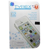 TYREX Slim 0.2mm Apple iPhone 5/5s Tempered Glass Screen Protector (Free Plastic Back Protector) - Screen Protector Handphone
