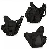 Tactical Tas [012] - Black (Merchant) - Tas Pinggang/Travel Waist Bag